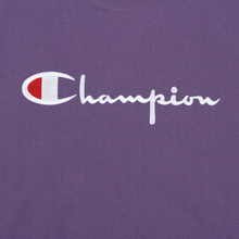 Мужская толстовка Champion Reverse Weave Script Logo Crew Neck Mulled Grape фото- 2