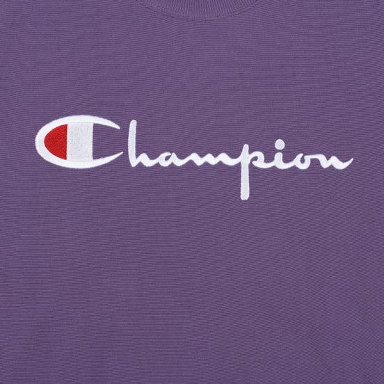 Мужская толстовка Champion Reverse Weave Script Logo Crew Neck Mulled Grape