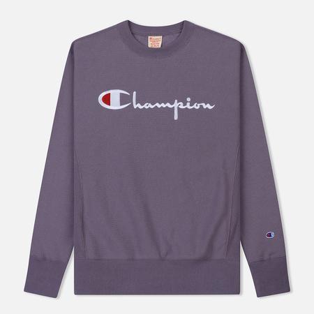 Мужская толстовка Champion Reverse Weave Script Logo Crew Neck Pastel Plum