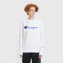 Мужская толстовка Champion Reverse Weave Script Logo Crew Neck White фото- 1