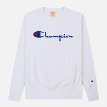 Мужская толстовка Champion Reverse Weave Script Logo Crew Neck White фото- 0