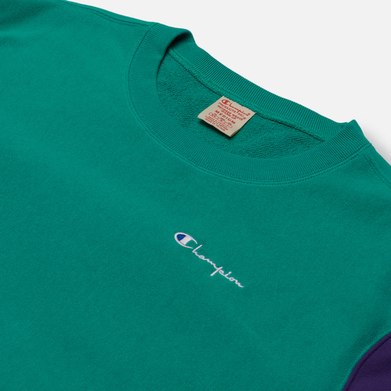 Мужская толстовка Champion Reverse Weave Small Script Bicolor Crew Neck Bright Green