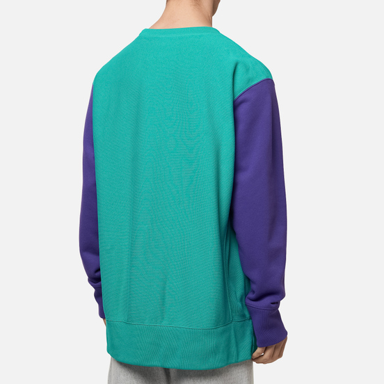 Мужская толстовка Champion Reverse Weave Small Script Bicolor Crew Neck Bright Green