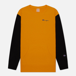 Мужская толстовка Champion Reverse Weave Small Script Bicolor Crew Neck Orange