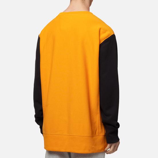 Мужская толстовка Champion Reverse Weave Small Script Bicolor Crew Neck Orange