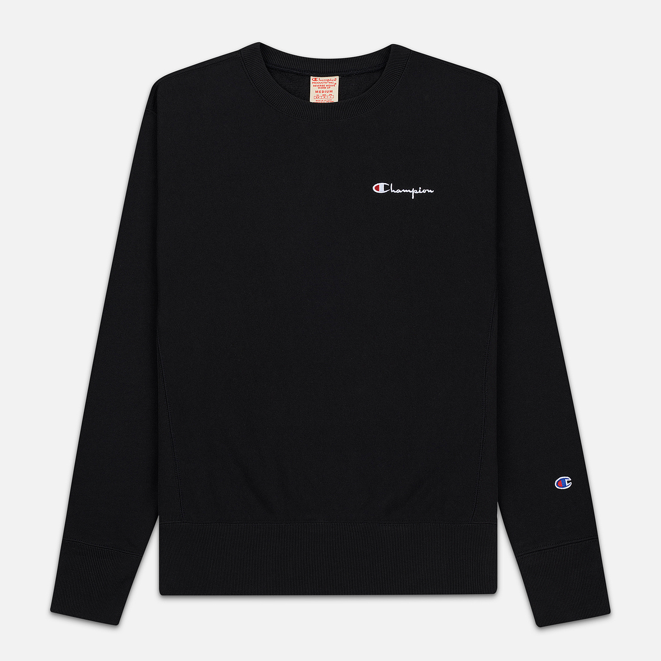 Мужская толстовка Champion Reverse Weave Small Script Crew Neck Black