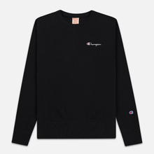 Мужская толстовка Champion Reverse Weave Small Script Crew Neck Black фото- 0