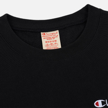 Мужская толстовка Champion Reverse Weave Small Script Crew Neck Black фото- 1