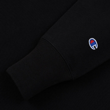 Мужская толстовка Champion Reverse Weave Small Script Crew Neck Black фото- 3