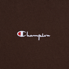 Мужская толстовка Champion Reverse Weave Small Script Crew Neck Brown фото- 2