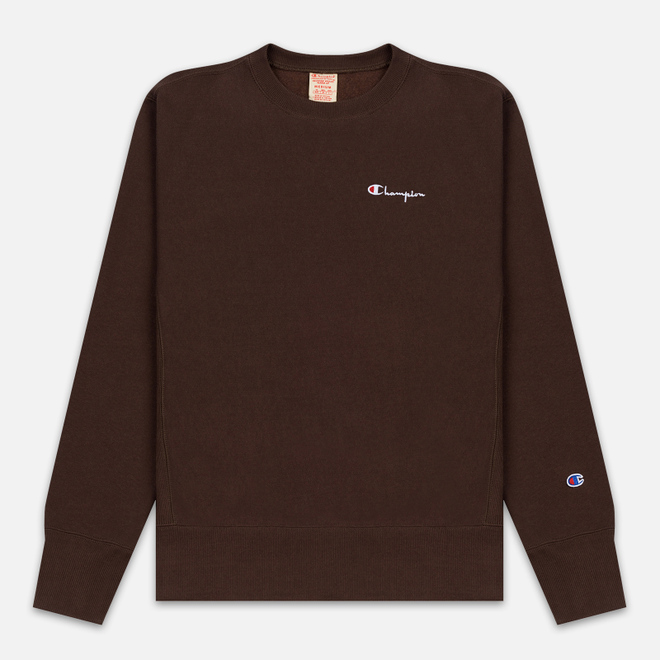 Мужская толстовка Champion Reverse Weave Small Script Crew Neck Brown