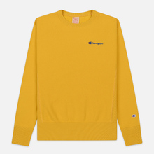 Мужская толстовка Champion Reverse Weave Small Script Crew Neck Golden Rod фото- 0