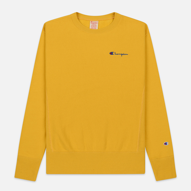 Мужская толстовка Champion Reverse Weave Small Script Crew Neck Golden Rod