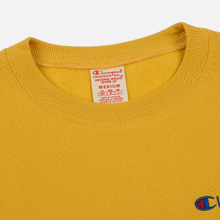 Мужская толстовка Champion Reverse Weave Small Script Crew Neck Golden Rod фото- 1
