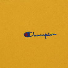 Мужская толстовка Champion Reverse Weave Small Script Crew Neck Golden Rod фото- 2