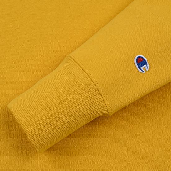Мужская толстовка Champion Reverse Weave Small Script Crew Neck Golden Rod