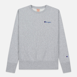 Мужская толстовка Champion Reverse Weave Small Script Crew Neck Light Grey