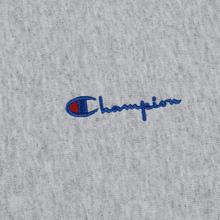 Мужская толстовка Champion Reverse Weave Small Script Crew Neck Light Grey фото- 2