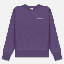 Мужская толстовка Champion Reverse Weave Small Script Crew Neck Mulled Grape фото- 0