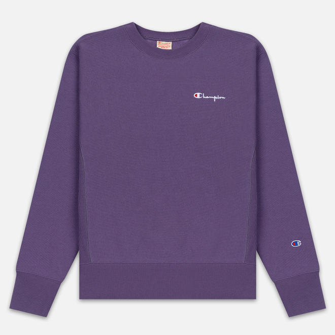 Мужская толстовка Champion Reverse Weave Small Script Crew Neck Mulled Grape