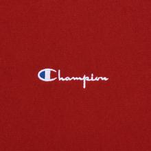 Мужская толстовка Champion Reverse Weave Small Script Crew Neck Dark Red фото- 2