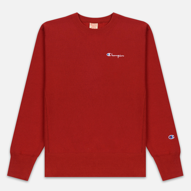 Мужская толстовка Champion Reverse Weave Small Script Crew Neck Dark Red