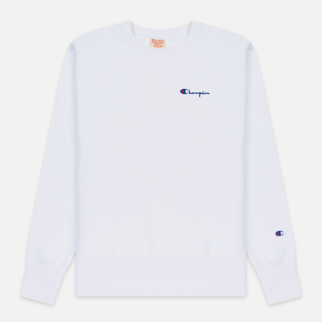 Мужская толстовка Champion Reverse Weave Small Script Crew Neck White