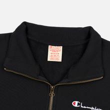 Мужская толстовка Champion Reverse Weave Small Script Half Zip Black фото- 1