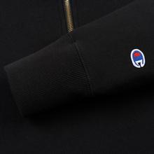 Мужская толстовка Champion Reverse Weave Small Script Half Zip Black фото- 4
