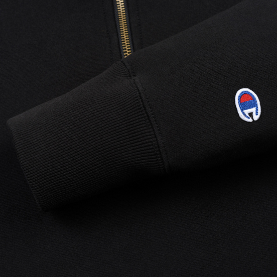 Мужская толстовка Champion Reverse Weave Small Script Half Zip Black