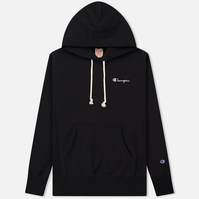 Мужская толстовка Champion Reverse Weave Small Script Hooded Black