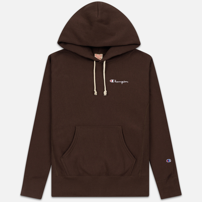 Мужская толстовка Champion Reverse Weave Small Script Hooded Brown