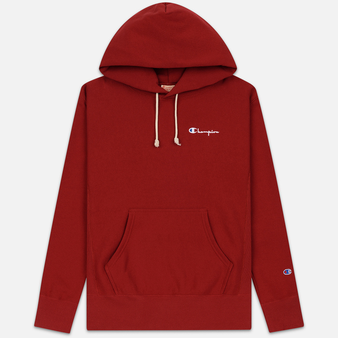 Мужская толстовка Champion Reverse Weave Small Script Hooded Dark Red