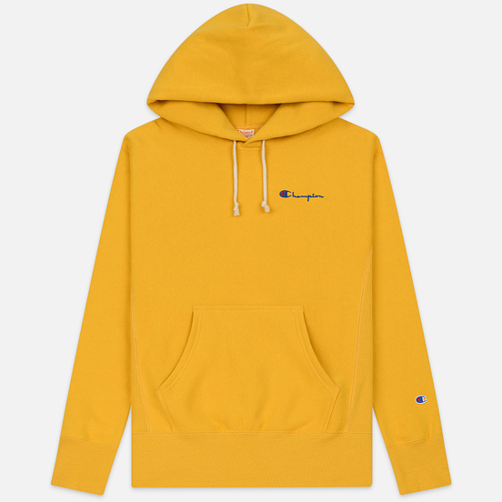 Мужская толстовка Champion Reverse Weave Small Script Hooded Golden Rod