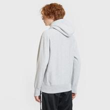 Мужская толстовка Champion Reverse Weave Small Script Hooded Light Grey фото- 3