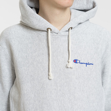 Мужская толстовка Champion Reverse Weave Small Script Hooded Light Grey фото- 2
