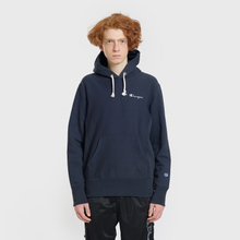 Мужская толстовка Champion Reverse Weave Small Script Hooded Navy фото- 1