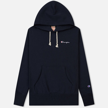 Мужская толстовка Champion Reverse Weave Small Script Hooded Navy фото- 0