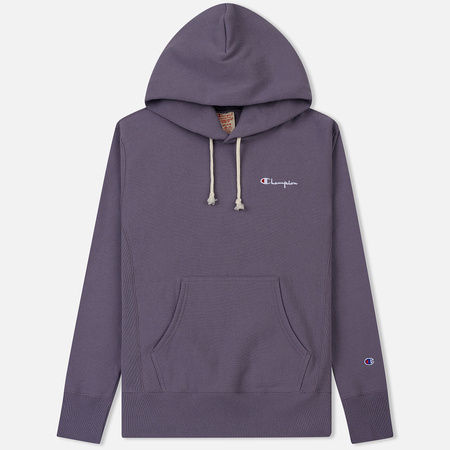 Мужская толстовка Champion Reverse Weave Small Script Hooded Pastel Plum