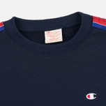 Мужская толстовка Champion Reverse Weave Taped Logo Crew Neck Navy фото- 1
