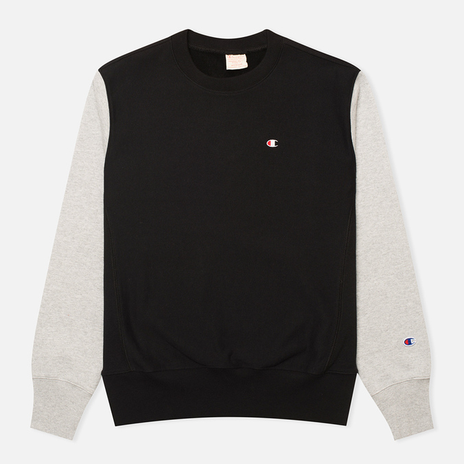 Мужская толстовка Champion Reverse Weave Tone Crew Black/Light Grey