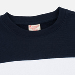 Мужская толстовка Champion Reverse Weave Tricolor Crew Neck Grey/White/Navy фото- 1