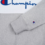 Мужская толстовка Champion Reverse Weave Tricolor Crew Neck Grey/White/Navy фото- 3