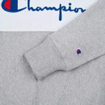 Champion Reverse Weave Tricolor Crew Neck Men's Sweatshirt Grey/White/Navy photo- 3