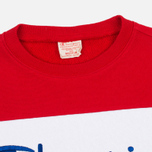 Champion Reverse Weave Tricolor Crew Neck Men's Sweatshirt Navy/White/Red photo- 1