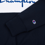 Champion Reverse Weave Tricolor Crew Neck Men's Sweatshirt Navy/White/Red photo- 3