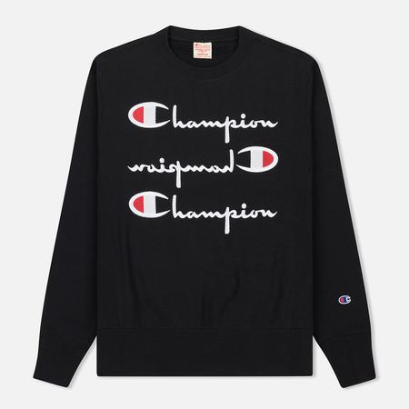 Мужская толстовка Champion Reverse Weave Triple Logo Black