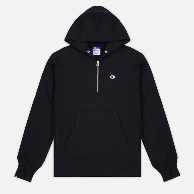 Мужская толстовка Champion Reverse Weave x Beams Half Zip Hoody Black