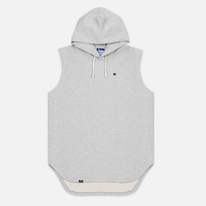 Мужская толстовка Champion Reverse Weave x Beams Hooded Sleeveless Grey Marl
