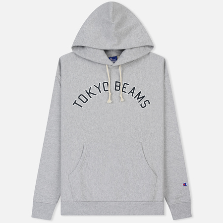 Мужская толстовка Champion Reverse Weave x Beams Logo Hooded Grey